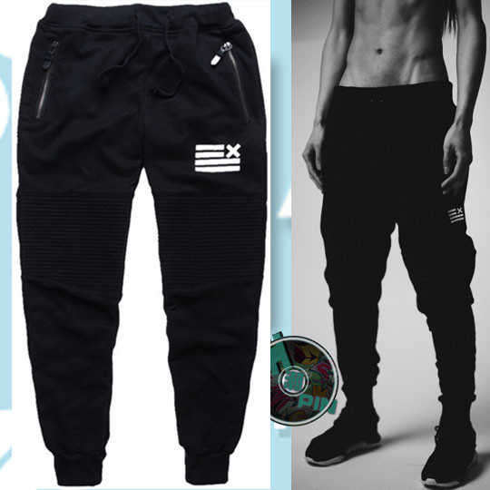 Europe And America Popular Brand Men Ankle Banded Pants Skinny Ninja Wei Pants Men's Jogging Athletic Pants