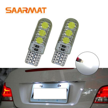 2PCS W5W Car Interior Lamp T10 White LED 12V Car Side Wedge Light Bulb Clearance Bulbs For BMW E46 E39 E91 E92 E93 E28 E61 F11 image