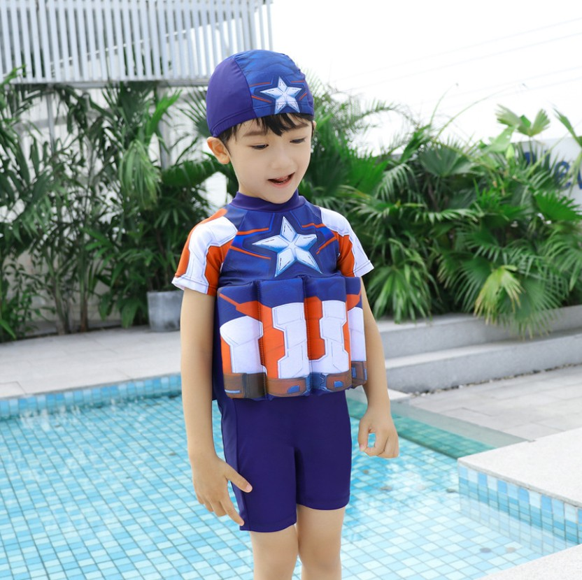Children Detachable Buoyancy Floating Bath Zipper  Life Jacket Baby Sunscreen Survive Child Bubble Bathing Suit Life Vest