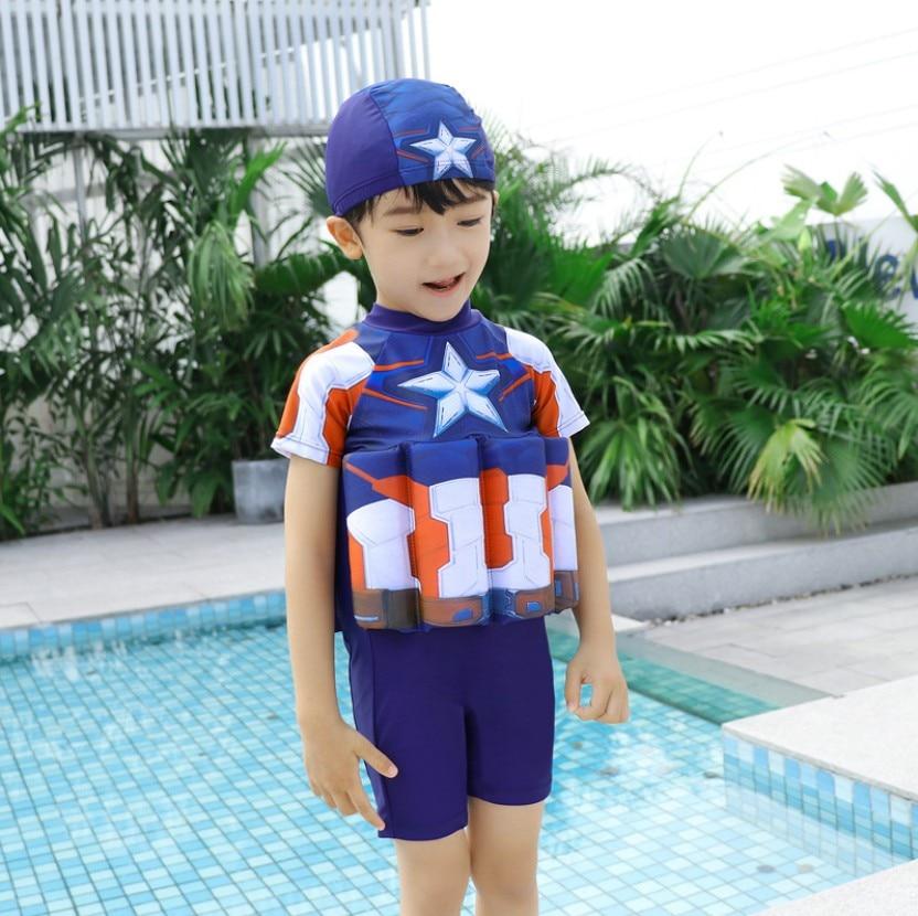 Children Detachable Buoyancy Floating Bath Zipper  Life Jacket Baby Sunscreen Survive Child Bubble Bathing Suit Life Vest