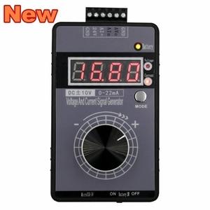 Image 1 - Портативный 0 5 в 0 10 В 4 20мА генератор с светодиодный дисплей высокой точности регулируемый постоянного тока Напряжение генератор сигнала без батареи