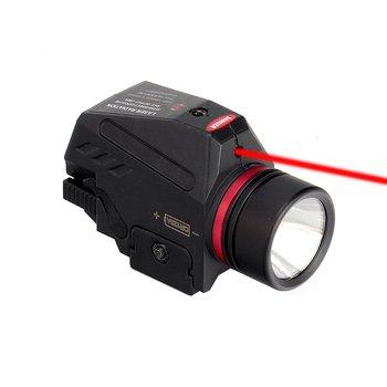 LED táctica arma Gen de la luz de la linterna rojo láser de punto de vista militar pistola de Airsoft luz para 20mm Mini pistola Gen