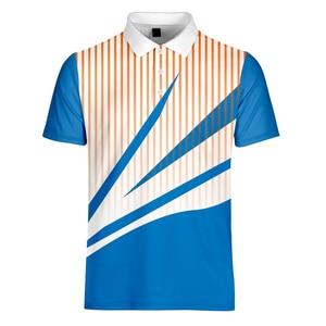 Image 5 - WAMNI Brand Fashion Men Gradient Shirt Casual Sport Simple 3D Male Patchwork Short Sleeve Turn down Collar shirt
