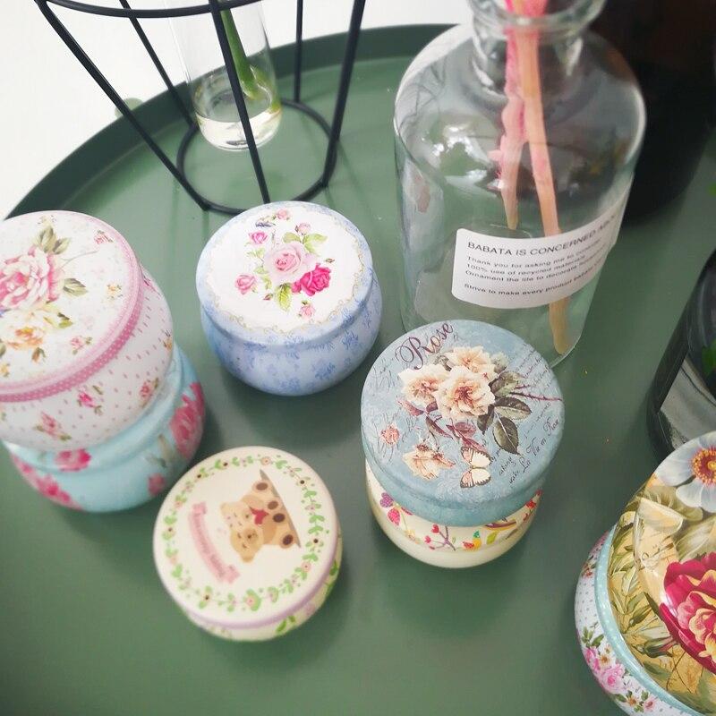 20 pièces nouveau rétro fleurs thé Caddy recevoir boîte Europe type style boîte de mariage faveur boîte en fer blanc boîte à bonbons organisateur conteneur