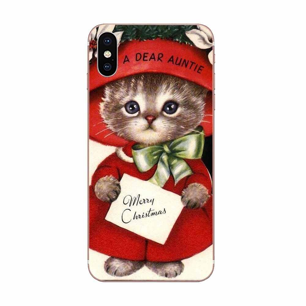 Pokrywa silikonowa torba w stylu Vintage Kitty boże narodzenie dla Xiaomi Redmi uwaga 2 3 3S 4 4A 4X5 5A 6 6A Pro Plus