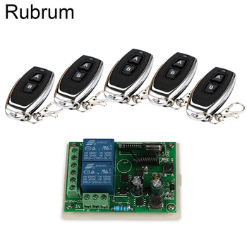 Rubrum 433Mhz Wireless Remote Control Switch AC 220V 2CH Relay Receiver Module + 433 Mhz Remote Controls For Garage Door Light 433mhz universal wireless remote control switch ac 250v 110v 220v 2ch relay receiver module and 3pcs rf 433 mhz remote controls