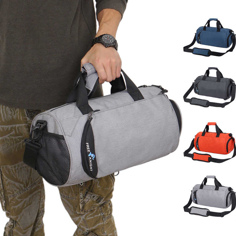 Women Men Waterproof Gym Bags,Multifunction Yoga Fitness Training Sports Bags,4 Colors Travel Shoulder Bags with Shoes Bags