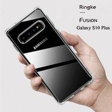Ringke Fusion zaprojektowany dla Galaxy S10 Plus silikonowy futerał elastyczny Tpu i przezroczysty twardy PC tylna pokrywa hybrydowa