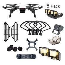 DJI Spark Kit di Accessori: Elica Guardia, Guardia, Paraluce, Protezione per le Dita Bordo, Joystick di Protezione, estensore di segnale, Tappo del Motore, Clip