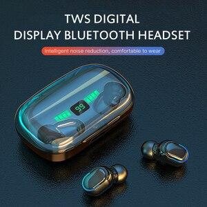 Беспроводные наушники Bluetooth 5,0, водонепроницаемые спортивные Hi-Fi стерео наушники со светодиодным дисплеем, наушники-вкладыши, гарнитура для...