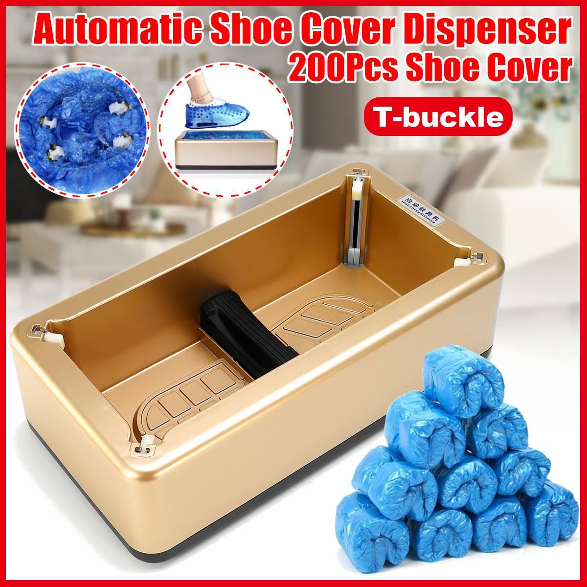Automatic Shoe Cover Dispenser Machine Disposable Overshoe Dispenser Device With 100pcs PE Disposable Shoe Covers