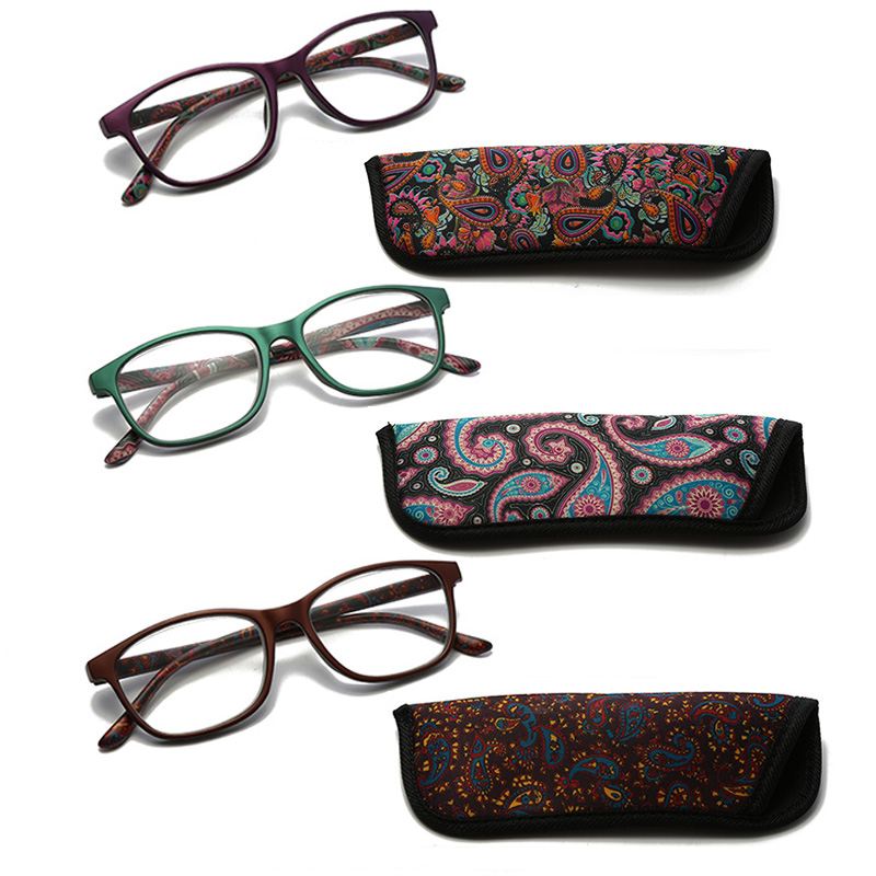 Image 2 - RBENN 3 Pack Ladies Reading Glasses with Bags Spring Hinges Pattern Stylish Reader for Women Men Reading EyewearWomens Reading Glasses   -