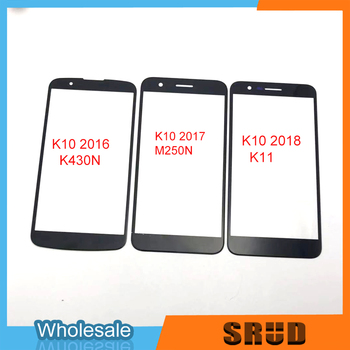 50Pcs Broken Outer Glass Replace For LG K10 K11 K430 K430DS 2016 2017 2018 M250N LCD Touch Screen Outer Glass With OCA Laminated