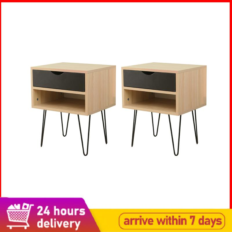 High Quality Retro-style Bedside Table Bedroom Table Cabinet Nightstand With Storage Drawers Bedroom Cabinets Home Furniture HWC