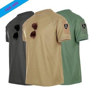 Мужская тактическая футболка, зеленая и черная тактическая футболка с коротким рукавом для спортзала