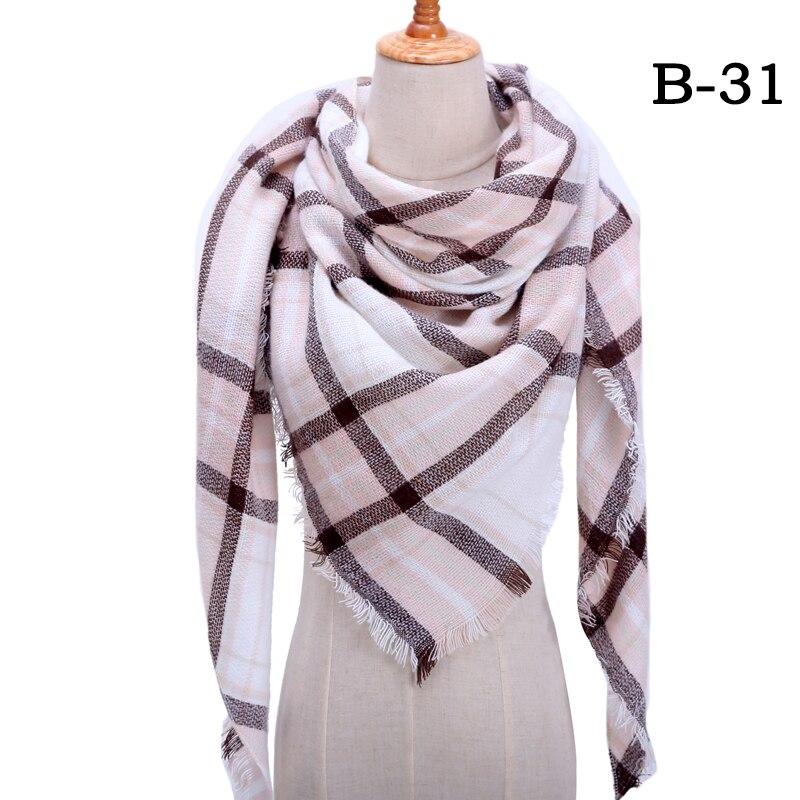 Женский зимний шарф в ретро стиле, кашемировые вязаные пашмины шали, женские мягкие треугольные шарфы, бандана, теплое одеяло, новинка - Цвет: bb31