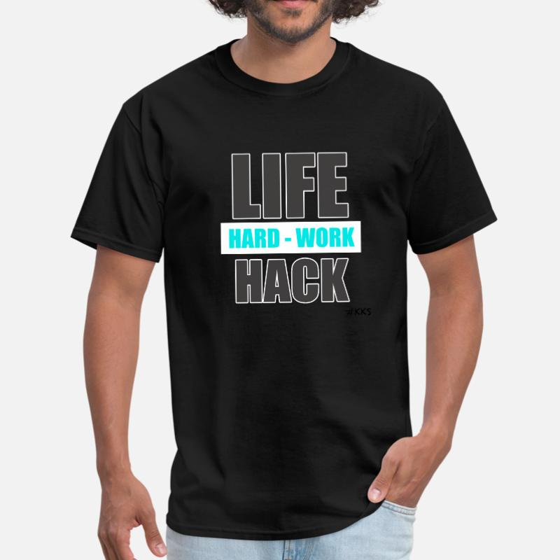 Create Life Hack Hard Work2 T Shirt Man Woman Round Neck Summer Mens T-Shirt Size Xxxl 4xl 5xl Streetwear Tee Tops image