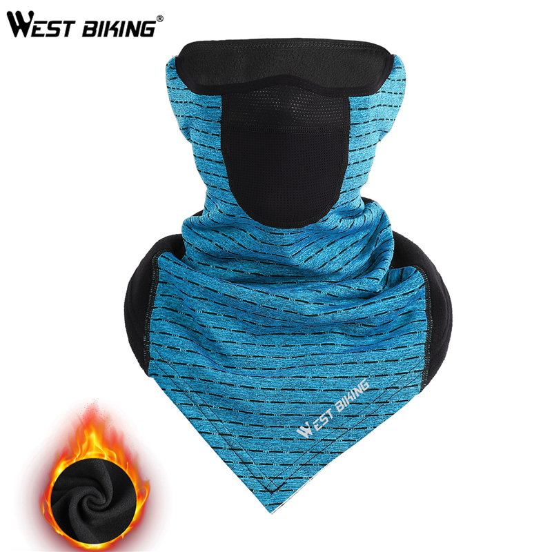WEST BIKING Winter Cycling Mask Fleece Thermal Outdoor Sports Facemask Bandana Headband Anti-UV Running Training Ski Face Mask