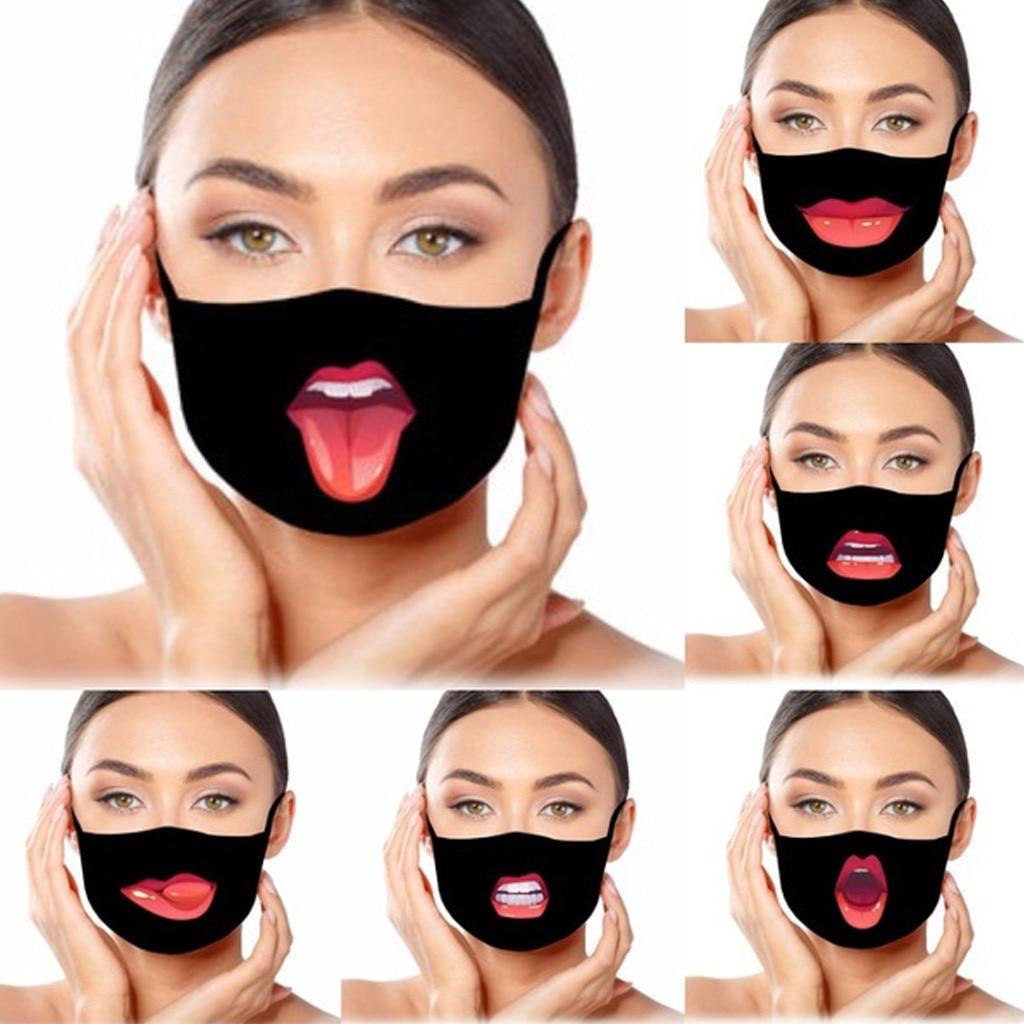 Masque facial pour adulte, écharpe amusante, respirant, cyclisme, couvertures buccales, Masque de protection lavable