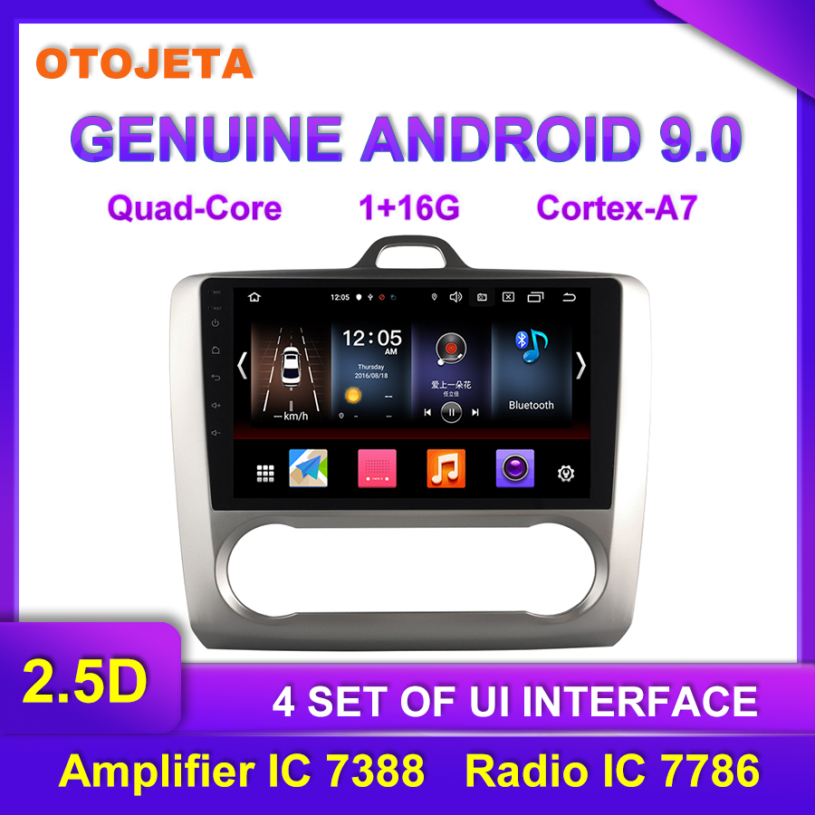 OTOJETA Android 9.0 Player Smart Car Multimedia <font><b>Radio</b></font> For <font><b>auto</b></font> AC <font><b>Ford</b></font> GPS Bluetooth Navigation full touch <font><b>focus</b></font> tape recorder image