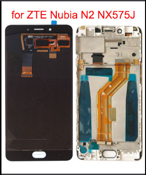 """5.5"""" Original AMOLED LCD Display for ZTE Nubia N2 NX575J LCD Display Touch Screen Digitizer Panel Sensor Replacement with Frame(China)"""