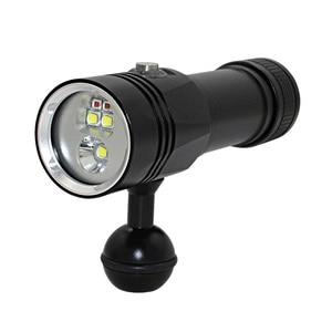 Image 4 - XHP90วิดีโอเติมแสงดำน้ำความลึก80Mไฟฉายใต้น้ำXM L2สีฟ้าสีขาวสีแดงการถ่ายภาพวิดีโอกล้องไฟฉาย