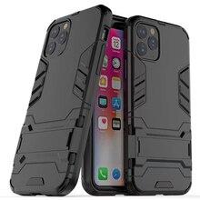 50 шт. 2 в 1 Подставка Железный человек Гибридный стенд держатель чехол для iPhone 11 Pro Max XS XR X 8 7 6 6S Plus Прочный ТПУ+ PC Броня чехол