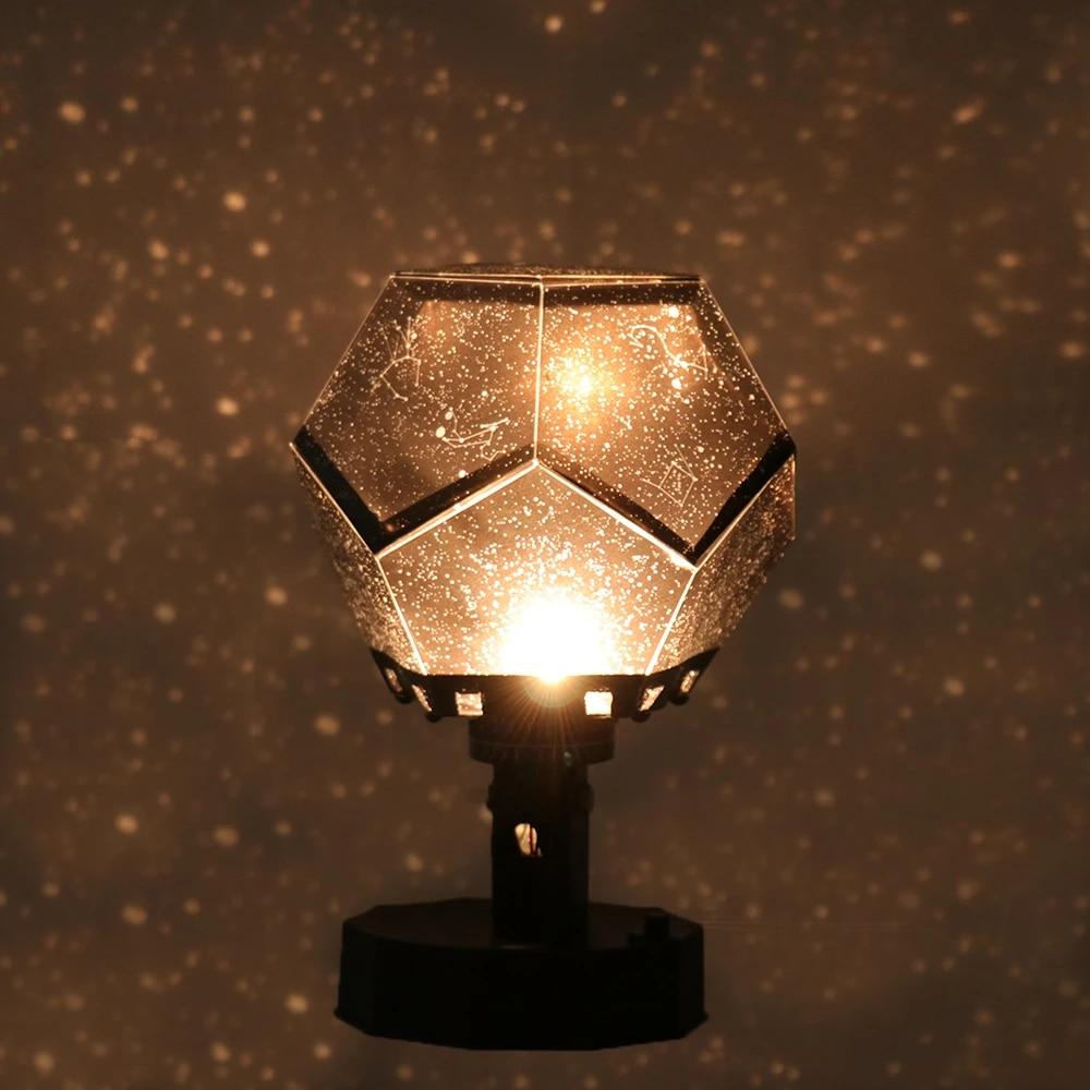 Diy Led Projection Lamp Romantic Planetarium Star Projector Cosmos Light Night Sky Lamp Kids Bedroom Stars Decoration Home Lamp Led Night Lights Aliexpress