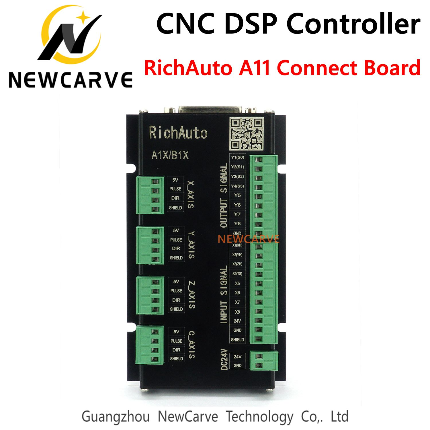 Connect Board Only For RichAuto DSP A1X Series  3 Axis Motion Controller With English Language A11/12/15/18 NEWCARVE