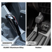 KEMIMOTO UTV RZR Pro 2020 2021 AL6061 aluminiowa dźwignia zmiany biegów gałka zmiany biegów jasnoczarny dla Polaris RZR PRO XP