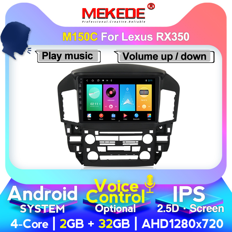 """MEKEDE 9"""" android car gps dvd player for lexus rx300 car radio multimedia player navigation head unit stereo autoradio"""