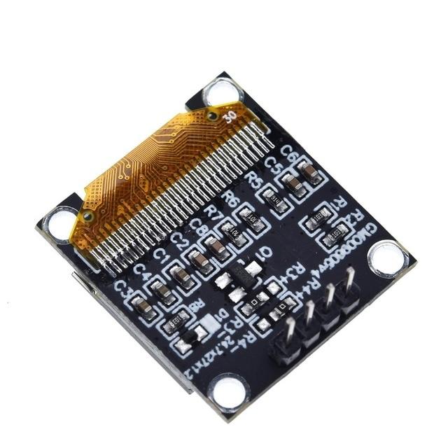 Module daffichage oled blanc série IIC 0.96 pouces, 12864x64, I2C, SSD1306, écran LCD, GND, VDD, SCK, SDA, pour Arduino