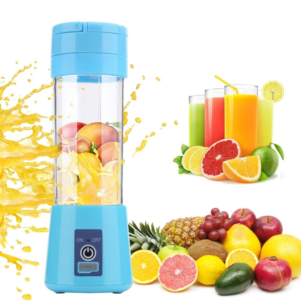 Portable Juicer Electric USB Rechargeable 380ml Blender Machine Mixer Mini Juice Cup Maker fast Blenders food processor image