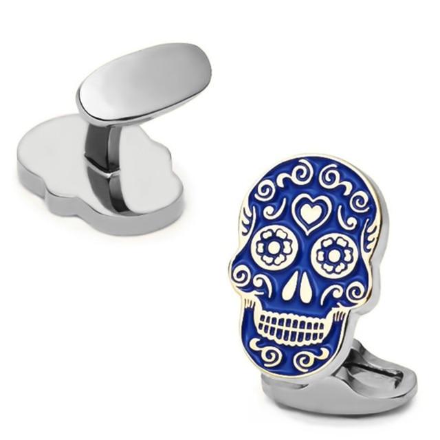 Free Shipping Skull Cufflinks 28 Vintage Skeleton Designs Men's Designer Cuff Links Wholesale&retail 4