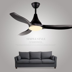 black 48 inch ceiling fan fans with lights remote control ceeling ventilator lamp bedroom decor modern Silent Motor Home Fixture