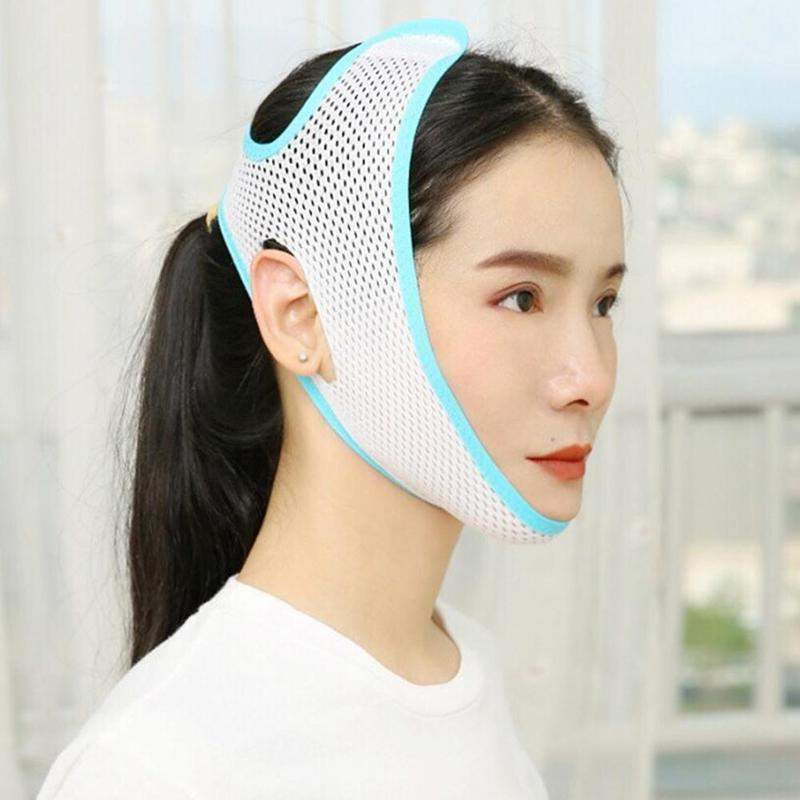 1X Face Cheek Slimming Belt Thin Face Mask Double Chin Skin ReduceFirming Lifter Bandage