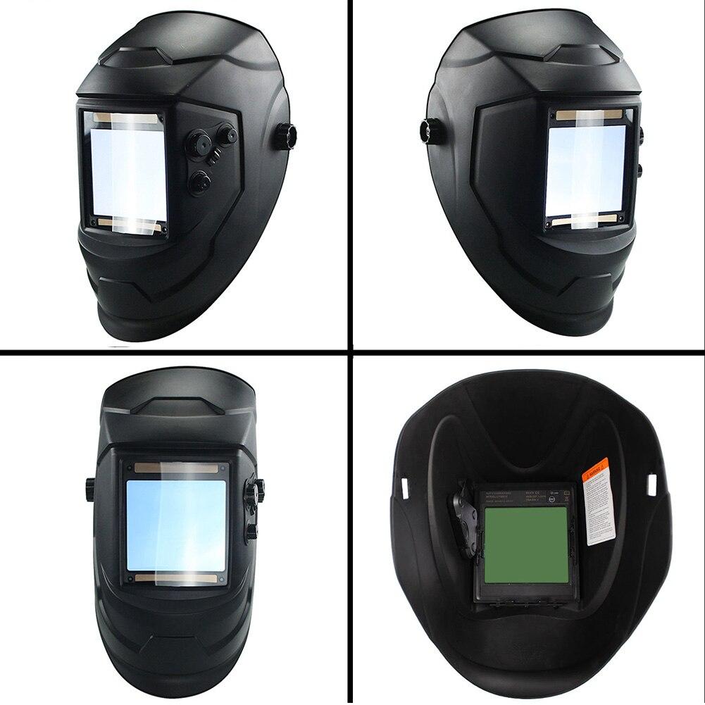 Welding Auto  View Solar Big TIG Welding Protecter Grinding Helmet  Cap Lens Arc MIG Darkening 4 Lens