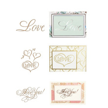 2019 New Love Words Pattern Hot Foil Plate for DIY Scrapbooking Letterpress Embossing Paper Cards Crafts