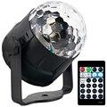Звуковая активация вечерние светильник s Led диско шар проектор 15 цветов с пультом дистанционного управления сценический бар КТВ свадебное ш...