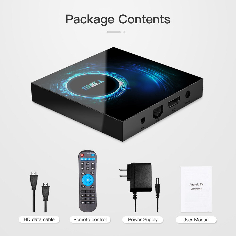 T95 Smart TV Box Android 10 4GB 64GB Allwinner H616 Quad Core 6K H.265 2.4G Wifi Google Player Youtube Media player Android 10.0 Pakistan