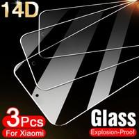 Protector de pantalla de vidrio templado para móvil, película protectora para Xiaomi Mi 9 SE 9T Pro 8 10 A3 A2 A1 Lite MAX 3 2 Pocophone F1, 3 uds.