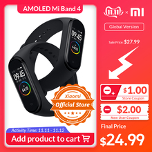 Xiaomi Mi-Band 4 Bracelet Display Fitness-Activity-Tracker Global-Version Colorful Mah