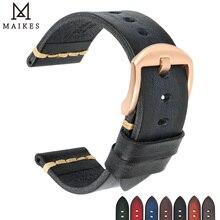 Maikes bracelet de montre, accessoires, 18mm 20mm, 22mm 24mm, bracelet de montre Omega, boucle dorée, bracelet de montre