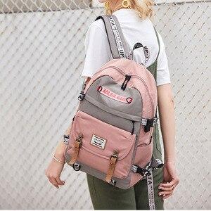 Image 2 - 대용량 대학 가방 여자를위한 학교 배낭 usb 충전 포트와 고등학교 bookbags 레이디 여성 여행 배낭