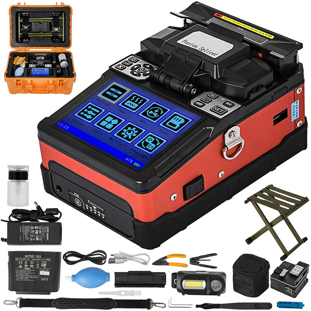 Cheap FTTH Fiber Optic Welding Splicing Machine A-81S Fusion Splicer With 9 Seconds Splicing Time