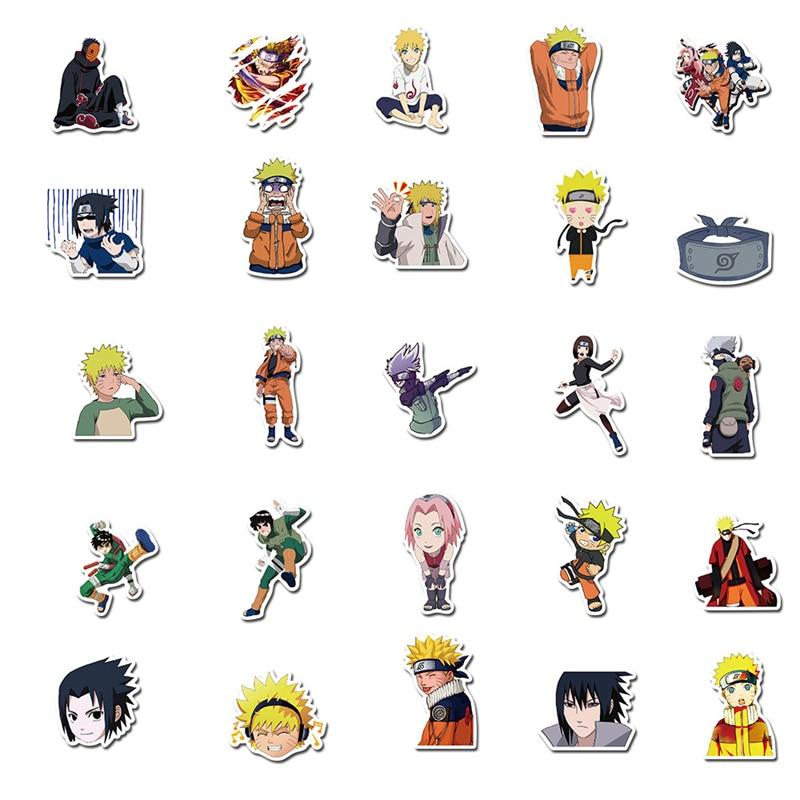 Hot DealsLaptop Naruto Stickers Skateboard Motorcycle Cool Anime Waterproof Kids Cartoon Toys