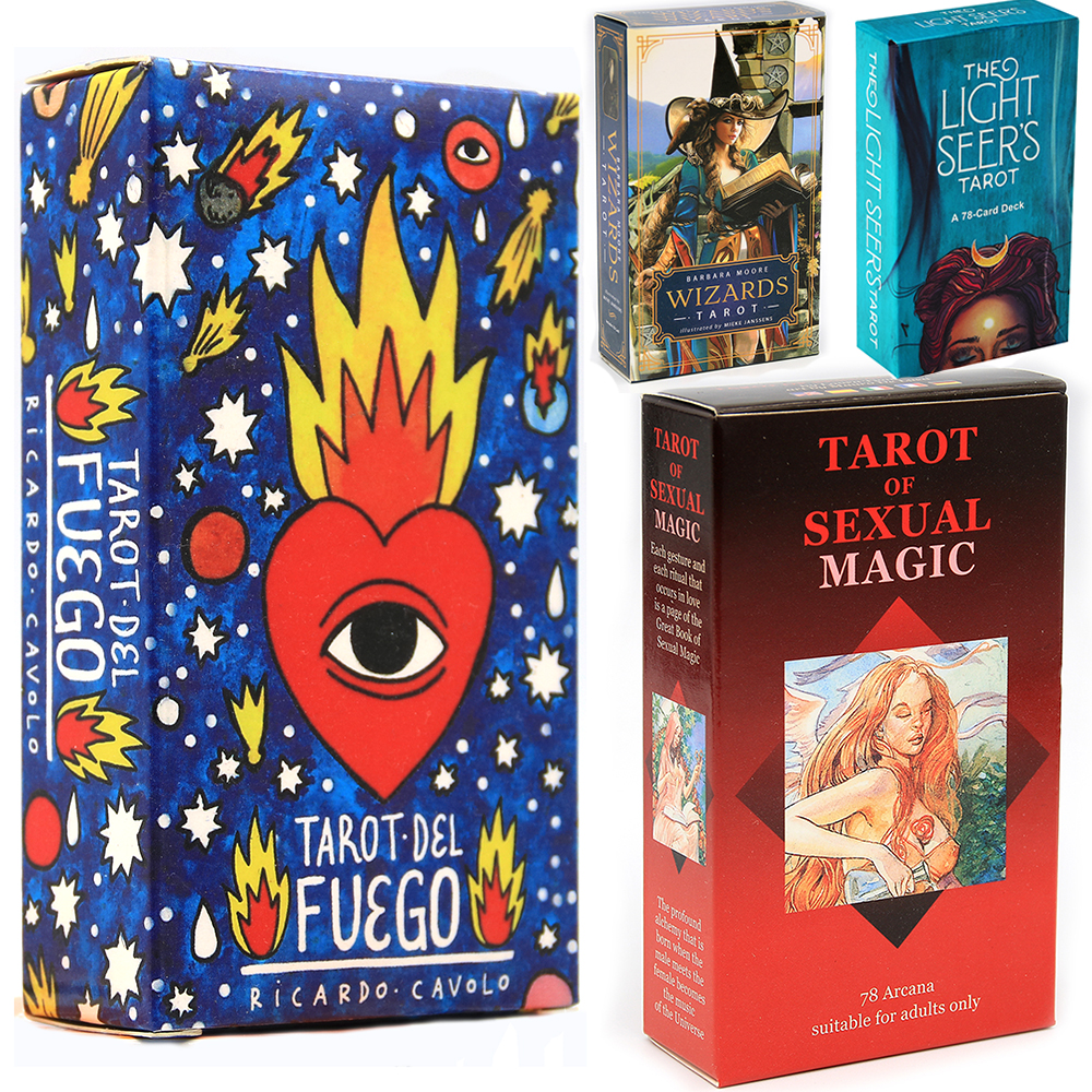 Tarot del Fuego Cards Tarot for Deck Oracles Electronic Guide Book Game Toy by Ricardo Cavolo Light Seer Dreams Wizards Toy