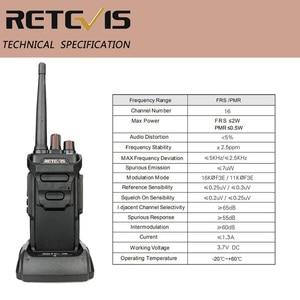 Image 4 - RETEVIS Walkie Talkie impermeable RT48/RT648 IP67 Radio PMR flotante PMR446/FRS VOX con carga USB, Radio bidireccional para Baofeng UV 9R