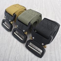 1pc militar táctico cinturón de Nylon para exterior con cinturón de hebilla de Metal accesorios de enganche para la caza de la policía deber militar los hombres
