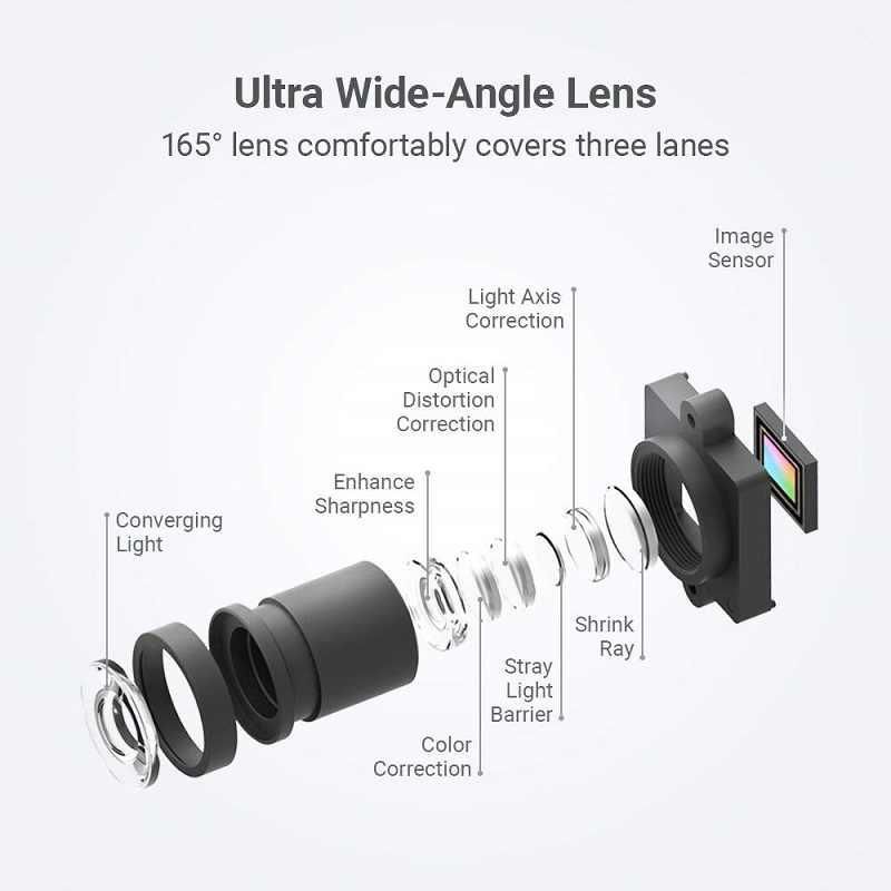 """Yi Smart Dash Camera 1080P Đầu Ghi Hình DVR Xe Ô Tô Wifi Cam Tầm Nhìn Ban Đêm 2.7 """"165 Độ 60fps ADAS An Toàn Nhắc Nhở"""